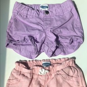 Bundle of 2 -3T Shorts Pink- Lilac